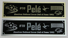 Pele nameplate for signed soccer ball photo or display case
