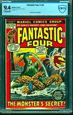 Fantastic Four #125 CBCS NM 9.4 Off White to White Marvel Comics