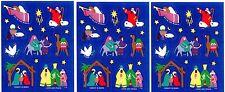 Christmas Xmas HOLY FAMILY Nativity Stickers 1994  3 sheets
