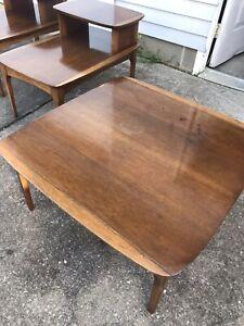 Lane Style Walnut Coffee Table Square