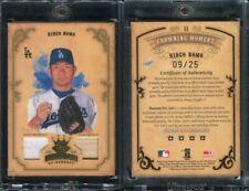2004 Diamond Kings Crowning Moment #11 Hideo Nomo Dual Jersey Bat Swatch 9/25