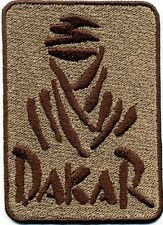 Toppa ricamata patch termoadesiva logo DAKAR cm. 9 x 6,5