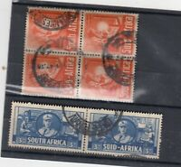 South Africa 1941 3d/6d Pairs SG91/93 Fine Used JK1671