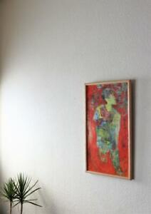 1960s Abstract Painting Mid Century Modern Oil on Canvas