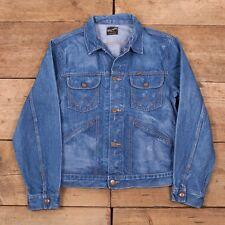Womens Vintage Wrangler Blue Denim Trucker Jacket Large 12 R10019