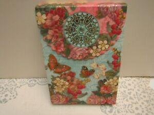 PUNCH STUDIO NIB 10 BLANK Butterfly Floral Print Note Cards w/ Printed Envelopes