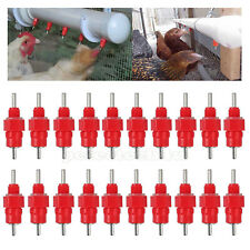 10X Automatic Cups Chicken Bird Waterer Poultry Chook Water Feeders Drinker Red