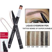 HANDAIYAN Eyebrow Pen Waterproof Tip Four Fork Eyebrow Tattoo Natural Pencils UK