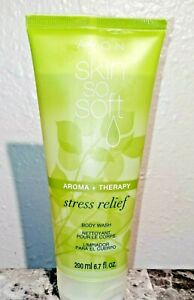 Avon Skin So Soft Aroma + Therapy Stress Relief  Body Wash  Brand New