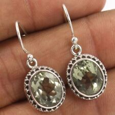 New Design 925 Sterling Silver Jewelry Earrings Natural GREEN AMETHYST Gemstones