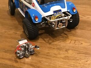 TAMIYA RC ALLOY RED ENGINE REPLICA FOR VINTAGE SAND SCORCHER ROUGH RIDER BUGGY