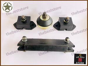 Engine, Transmission & Transfer case Mount Kit Fits MB GPW CJ2 CJ3 CJ5 Willys