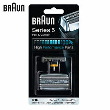 Braun Series 5 Foil & Cutter 51S Foil,Cutter Replacement Pack razor blade