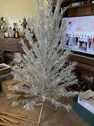 VTG COLLECTOR'S 6 FT.EVERGLEAM SILVER ALUMINUM CHRISTMAS W/BOX & PAPERWORK
