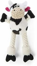 "Godog Sherpa 8"" Skinny checkers Cow With Chew Guard Dog Toy Fetch Toss Tug"