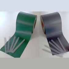 PVC 650g/m² 35mx19cm Sichtschutzstreifen Stabmattenzaun Streifen Anthazit / Grün