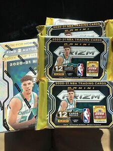 2020-21 Panini Prizm Basketball NBA HOBBY PACK (1) One HOBBY PACK