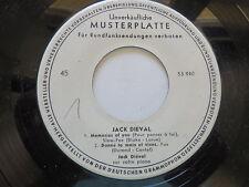 Jack dieval-learnin the Blues/Tenderly/Memories of You PROMO EP... VINILE: MINT -