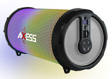 """Axess Disco LED HiFi 2.1 Bluetooth with 3"""" Subwoofer Speaker (Silver) SPBL1044SL"""