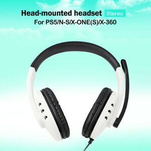 Wired Headset With Microphone 3.5mm Port For Sony Playstation 5 PS4 N-Switch
