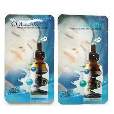Ylang Gallery Facial Mask Packs Essence Sheet Ampoule Serum Aloe Collagen 10Pcs