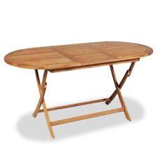 vidaXL Teak Outdoor Folding Foldable Dining Table 160x80cm Garden Patio Picnic