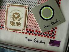 RARE Vintage PIERRE CARDIN Graphic Hankies Handkerchief Scarf IN BOX Accessory