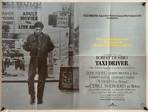 Taxi Driver Original UK British Quad Film Poster (1976) Robert De Niro