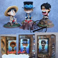 One Piece Three Brother Figure Luffy Ace Sabo Bandage Ver. Model PVC Painted GK