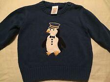 Gymboree North Pole Express Boys Sweater Size 3-6 Months Penguin Train
