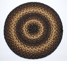 "Homespice Decor KENYA Braided Jute 15"" Round Placemat"