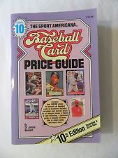 THE SPORT AMERICANA BASEBALL CARD PRICE GUIDE #10 BY JIM BECKETT 1988