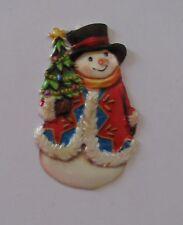 Verzierwachs-Ornament Schneemann 2*70 x 45 mm*Kerzen selbst gestalten*basteln