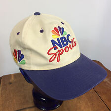 Vintage Sports Specialties NBC Sports TV Television News Flat Top Dad Cap Hat