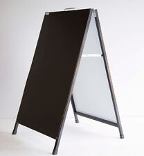 600mmx900mm Blackboard A-Board with Black Steel A Frame -DOUBLE SIDE BLACK BOARD