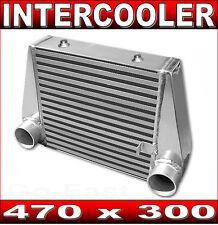"INTERCOOLER 470 x 300 V-MOUNT MAZDA RX7 70mm 2.75""inch INLET & OUTLET - FC3S 13B"