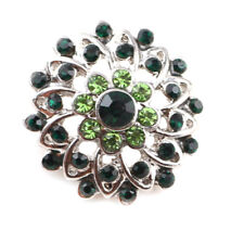 3DCrystal Chunk Charm Snap Button Fit For Noosa Necklace/Bracelet NSKZ143