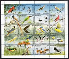 Malawi Birds Sheetlet of 20v MNH SG#876-895