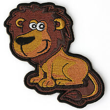 Embroidered Cute Smiling Lion Kids Sew or Iron on Patch