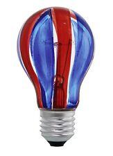40W E27 KUGEL LAMPE GLÜHBIRNE Eglo 85936 Rot-Blau FARBIG LEUCHTMITTEL RUND
