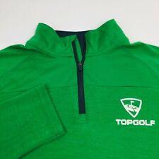 Under Armour Mens Top Golf 1/4 Zip Pullover Sz Medium Green L/S Loose Fit Jacket