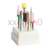7Pcs/Set Salon Manicure Tool Ceramic Carbide Drill Bits Kits Gel Off Polishing