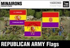 Minairons 1:100 Republican Army flags - 15mm Spanish Civil War