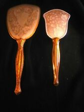 Antique Ladies Women's Vanity Mirror & Brush Set