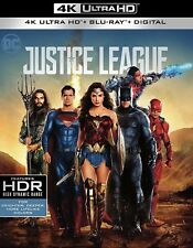 New listing Justice League(4K Ultra Hd+Blu-Ray+Digital)W/Slip cover New Factory Sealed