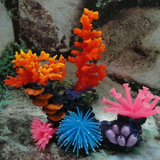 Artificial Resin Coral Plant Aquarium Fish Tank Decoration Underwater Supply US
