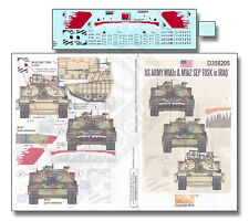ECHELON FD D356205, 1/35 Decals for US Army's M1A1s & M1A2 SEP TUSK in IRAQ