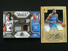 KEVIN DURANT/GEORGE GERVIN SP GAME USED PATCH TAG/PASSING THE TORCH AUTO LOT (2)