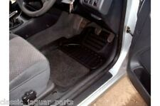 Toyota Avensis Saloon Rubber Floor Mats 4 Part Set with Grey Carpet Inserts