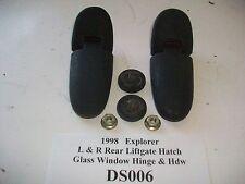 1999 99 Ford Explorer Rear Liftgate Hatch Glass Window Hinge s R & L OEM#DS006